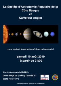 Soirée d'observation à BAB2 @ Centre commercial BAB2 | Anglet | Nouvelle-Aquitaine | France