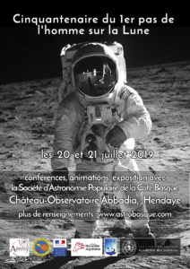 Cinquantenaire du premier pas de l'homme sur la Lune @ Château-Observatoire Abbadia | Hendaye | Nouvelle-Aquitaine | France