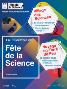 Fête de la Science  le 12 octobre 2019 @ quartier Sokoburu | Hendaye | Nouvelle-Aquitaine | France