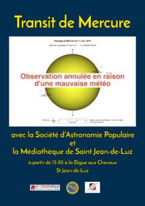 Dernier transit de Mercure avant 2032 @ Digue aux chevaux | Saint-Jean-de-Luz | Nouvelle-Aquitaine | France