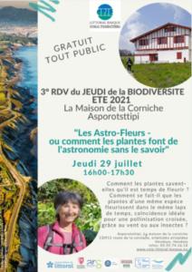 Les Astro-Fleurs ou comment les plantes font de l'astronomie sans le savoir @ Asporotsttipi   Hendaye   Nouvelle-Aquitaine   France